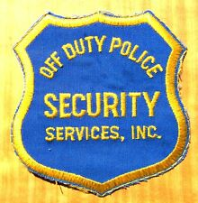 GEMSCO NOS Vintage Patch - OFF DUTY POLICE SECURITY SERVICES KY - 30 year old