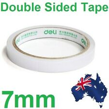 1 Pc White Roll of Double-sided Super Strong Thin Adhesive Tape Sticker 7mm Scra