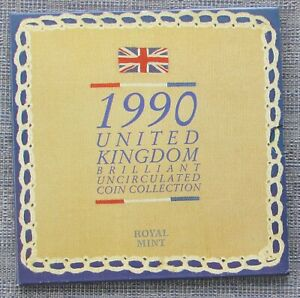 UK 1990 uncirculated 8-coin Year Set  as issued by RM