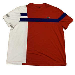 Rare Mens Lacoste's Sport Active Wear Workout Tee Colorblock USA Size 3XL Fr 8
