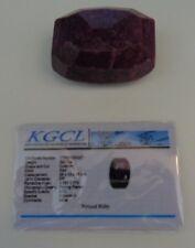 KGCL Certified HUGE 580 Ct RED Natural Corundum ruby Cushion Cut Loose Stone
