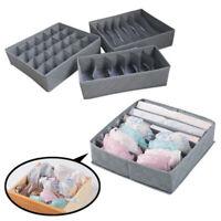 3Pcs/set Underwear Bra Socks Ties Drawer Closet Divider Organiser Box Storage