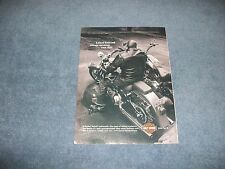 "2007 Harley-Davidson Softail Motorcycle Ad ""Leaves Behind Shoes No Man Can Fill"""