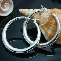 ASAMO Damen Ohrringe Creolen 925 Sterling Silber plattiert Ohrschmuck O1020