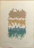 MARIO PADOVAN serigrafia Ritmo 9  Optical Art 70x50 firmata numerata anno 1969
