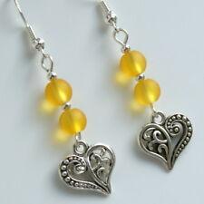 Love Heart Earrings with Sterling Silver Hooks New Drops LB377