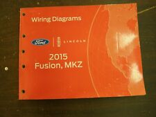 OEM Ford 2015 Fusion Shop Manual Wiring Diagram Book nos Lincoln MKZ