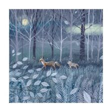 Pack of 8 Fine Art Xmas / Christmas Cards - Red Fox & Cub - Woods Moon Artisan