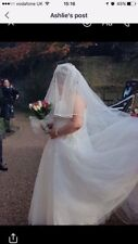Ivory Wedding Dress Size 18 cathedral veil also