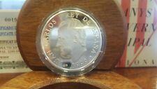 Moneda 750 Anys de Govern Municipal Barcelona 1999 plata 925 certificado FNMT