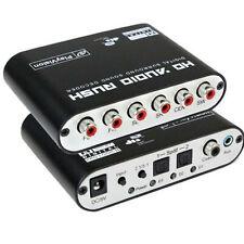 Audio 5.1CH AC3 DTS Decodificador de sonido digital SPDIF Coaxial 6RCA con cable