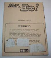 Mr Do Arcade Instruction MANUAL Universal 1982 Original Service Repair Info