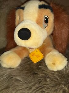 Lady And The Tramp Plush Walt Disney 12 Inch Lady Laying Down Toy