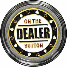 Casino Poker Card Guard Cover Protector ON THE DEALER BUTTON