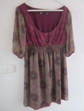 PRETTY SHEER , LINED DRESS  BY DOTTI , SIZE 10/12