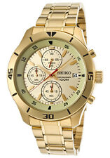 SCNP SKS404P1 Seiko Gents Chronograph Gold Plated Stainless Bracelet Watch