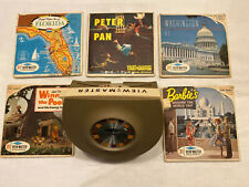 View Master plus Barbies Around the World Trip, Peter Pan, Winnie the Pooh, Plus