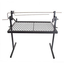 Outdoor Campfire Cooking Grill Rotisserie Camping Equipment Kitchen Patio Cooker