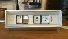 Vintage Copal Caslon 601 Flip Clock With Calendar and Date - Works, Tested