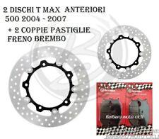 2 DISCO FRENO ANTERIORE YAMAHA TMAX T-MAX 500 2006 + 2 COPPIE PASTIGLIE BREMBO