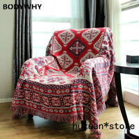 Bohemian Style Thick Cotton Blanket Leisure Sofa Blanket Bedding Cover Carpet