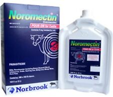 Noromectin (Ivermectin) Pour On 2 x 5 Liter Cattle Worm & Lice Control Norbrook