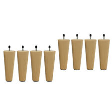 8pcs 150mm Wood Furniture Legs Round Sofa Legs Couch Chair Legs Replacement