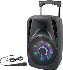 IBIZA PORTABLE BATTERY SOUND SYSTEM 8'' 300W USB BLUETOOTH FM & MIC DJ KARAOKE