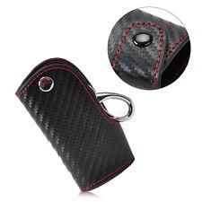 Carbon Fiber 3D Leather Remote Smart Key chain keyless Holder for Audi BMW Honda
