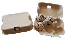 Quail egg pulp boxes, reusable, environmentally eco friendly cartons, 10 - 100
