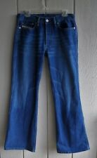 Mens 32 Diesel Algodao Mid-Rise Flare Button Fly Medium Blue Denim Jeans 33 x 32