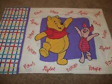 Vintage Disney Winnie the Pooh Piglet Eeyore Tigger Names Pillow Case (Fabric)