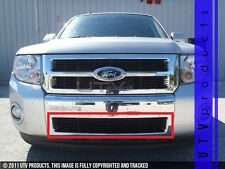 GTG 2008 - 2012 Ford Escape 1PC Gloss Black Overlay Bumper Billet Grille Grill