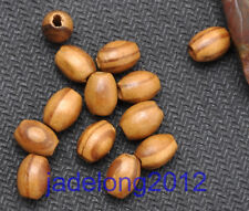100pcs Brown Stripe Oval Wood Beads loose bead 6X8MM NH786