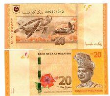 Malaysia RM20 First Prefix  AA UNC