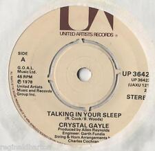 "Crystal Gayle - Talking In Your Sleep 7"" Single 1978"