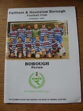 05/10/1991 Feltham e hounslow Borough V Wootton Blue Cross VASO [FA] (Senza cor
