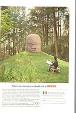 1965 Mexico Government Tourism Mexico City Anthropology PRINT AD