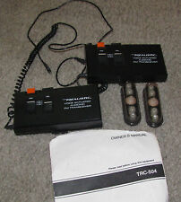 Pair of Realistic Voice Actuated Two-way Audionic Fm Transceiver Model Trc-504