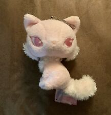"""San-x Jewel Shiny Cat Plush 5.5"""" Keychain Pink Mascot Stuffed Toy Doll Japan"""