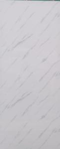 Gloss White/Grey marble Wet Wall Panels Waterproof PVC Bathroom Shower Cladding