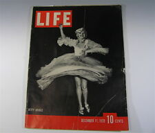 Life Magazine BETTY GRABLE, M1 GARAND MILITARY RIFLE ARTICLE , December 11 1939