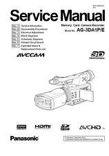 Panasonic AG-3DA1 3D Camcorder Service Manual & Repair Guide
