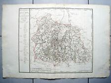 RIESIGE LANDKARTE FRANKREICH DEP. DU PUY DE DOME 1790 KUPFERSTICH D'HOUDAN