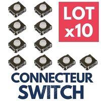 ►10 Switch Bouton Poussoir Interrupteur pour Clef Télécommande Plip Clé RENAULT