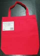 12x Craft Supplies  Canvas Tote Bags (Red/Natural)/Various Sizes-JK56