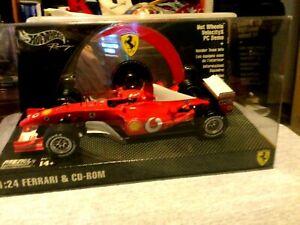 Hot Wheels Racing 1:24 scale Ferrari and CD-ROM