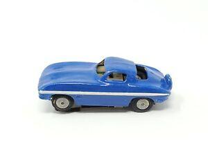 Vintage Blue Lionel Slot Car Corvette Stingray Kid Painted HO Scale