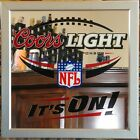 Coors Light Beer,  NFL,  Mirror Bar Sign. Pre-owned