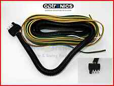New 25' Wishbone Style Trailer Wiring Harness with 4-Flat Connector w/loom